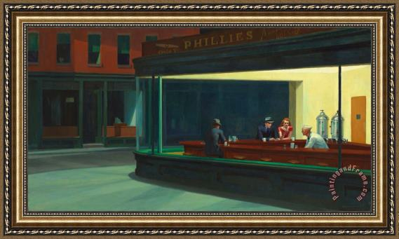 Edward Hopper Nighthawks 1942 Framed Print