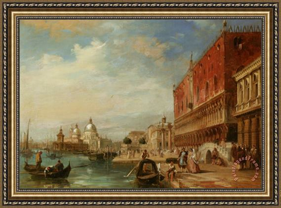 Edward Pritchett Santa Maria Della Salute From The Dodges Palace Venice Framed Painting