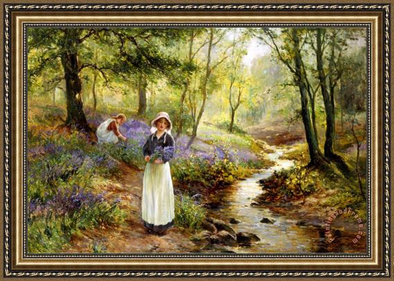 Ernest Walbourn The Bluebell Glade Framed Print