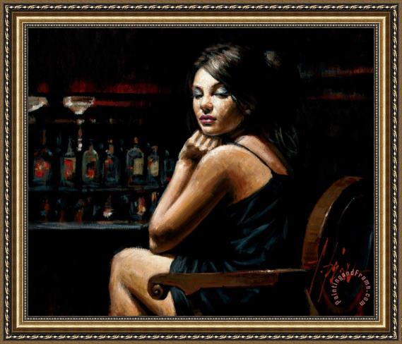 Fabian Perez Saba at Las Brujas III with Lights Framed Print