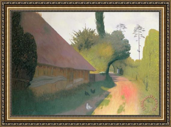 Felix Edouard Vallotton The Barn with the Great Thatched Roof Framed Print