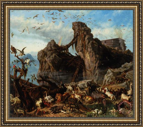 Filippo Palizzi After The Flood Framed Print