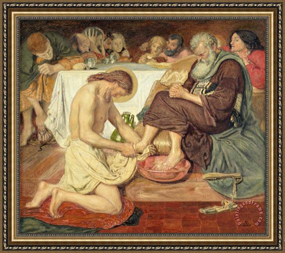 Ford Madox Brown Jesus Washing Peter's Feet Framed Print