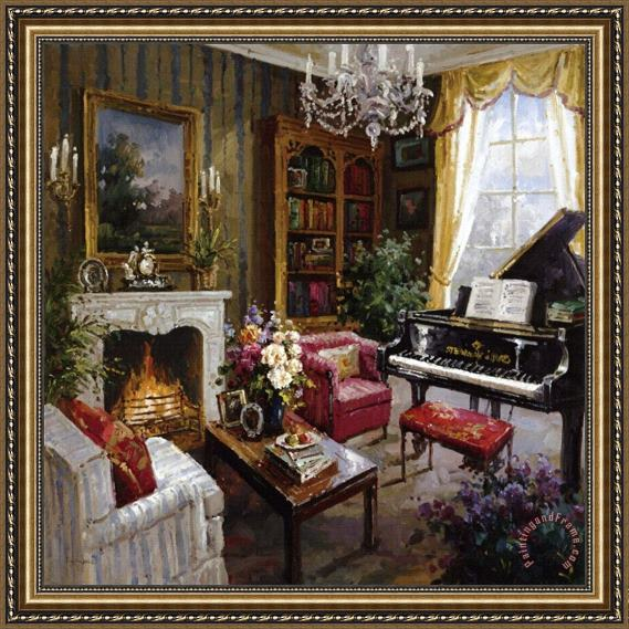 Foxwell Grand Piano Room Framed Painting