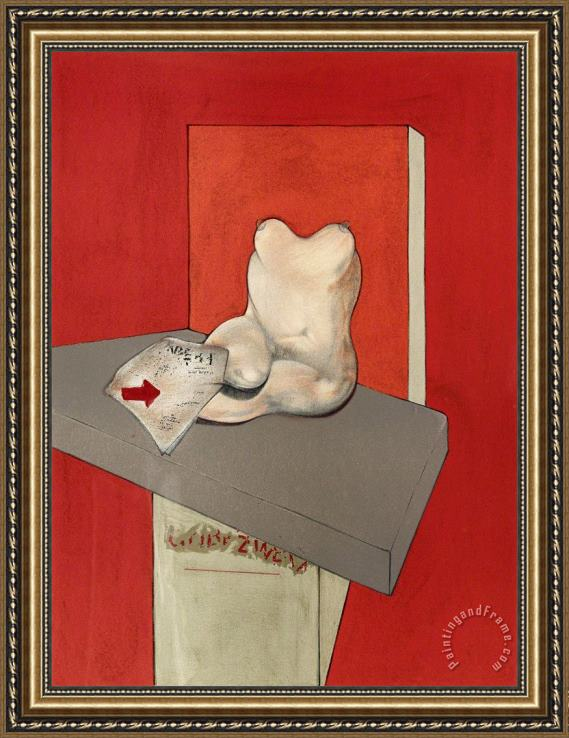 Francis Bacon Study of a Human Body After Ingres, 1984 Framed Print