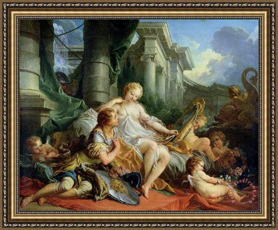 Francois Boucher Rinaldo and Armida Framed Print