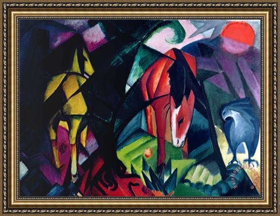 Franz Marc Horse and Eagle Framed Print