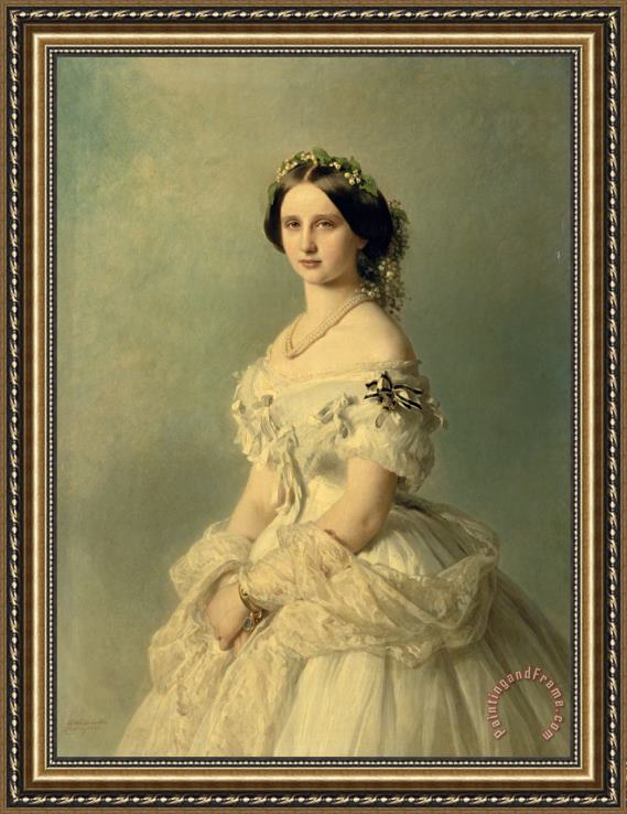 Franz Xaver Winterhalter Portrait of Princess of Baden Framed Print