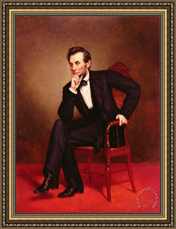 George Peter Alexander Healy Portrait of Abraham Lincoln Framed Print