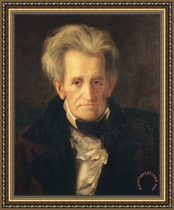 George Peter Alexander Healy Portrait of Andrew Jackson Framed Print
