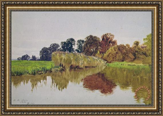 George Vicat Cole On the Arun Stoke Sussex Framed Painting