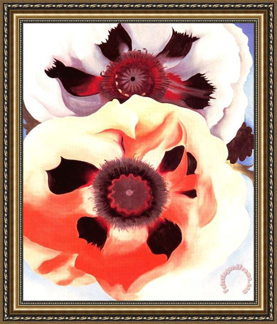 Georgia O'keeffe Poppies Framed Painting