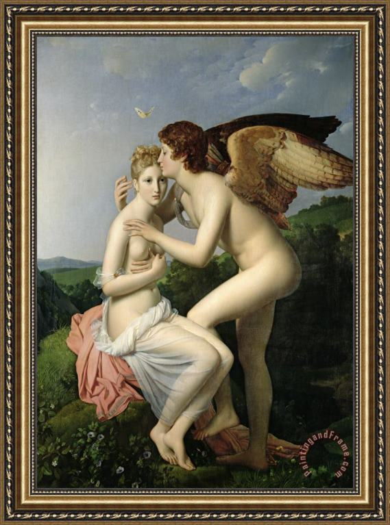 Gerard Psyche Receiving the First Kiss of Cupid Framed Print