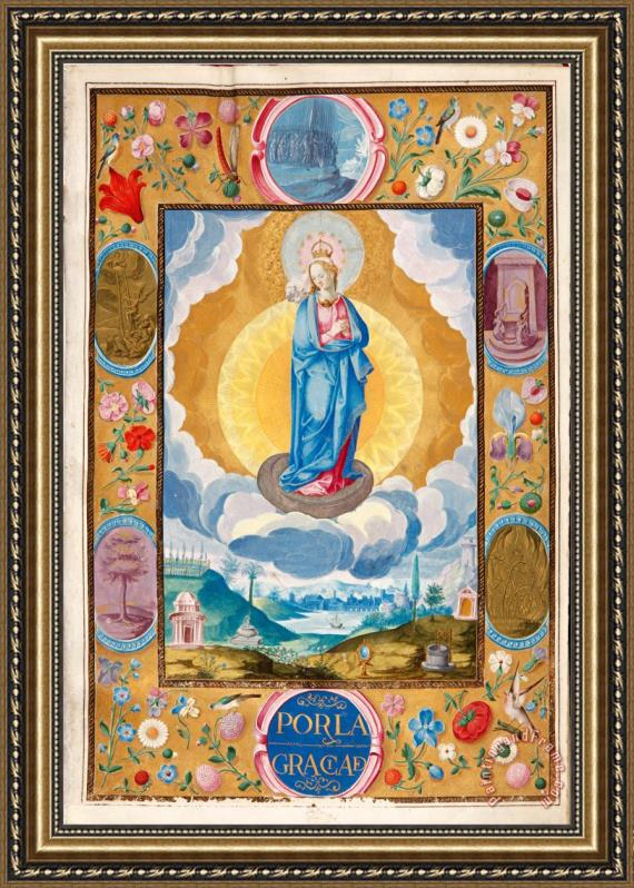 Gomez, Diego Immacule Conception in Enforceable Charter of Chivalry of Arias Pardo De Cela Framed Print