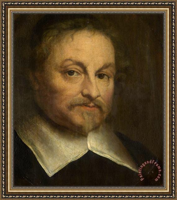Govaert Flinck Portrait Of The Poet Joost Van Den Vondel Framed Painting By Govaert Flinck