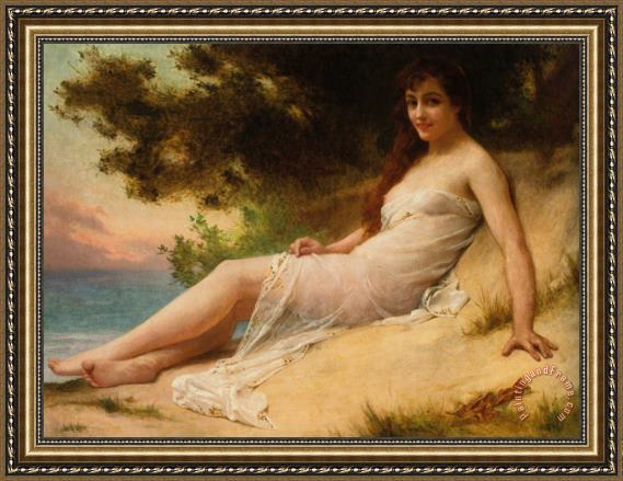 Guillaume Seignac Solitude Framed Painting