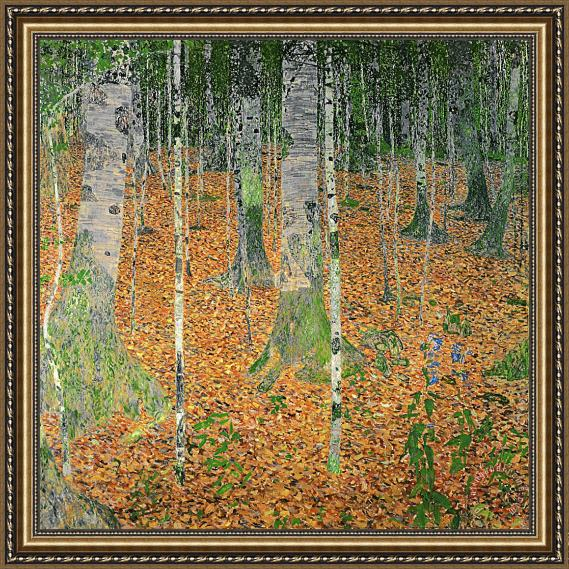 Gustav Klimt The Birch Wood Framed Print