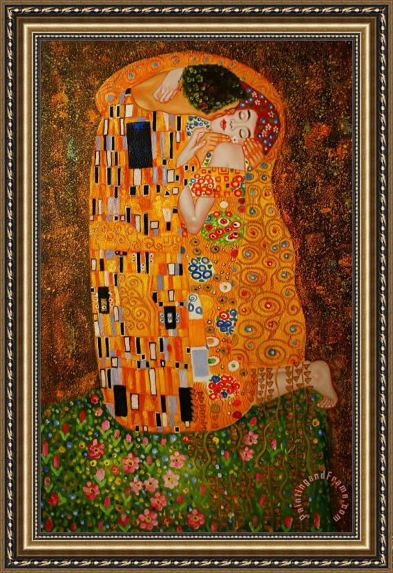 Gustav Klimt The Kiss Framed Print for sale - paintingandframe.com