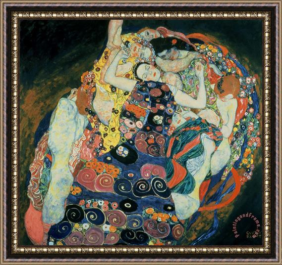 Gustav Klimt The Maiden Framed Print
