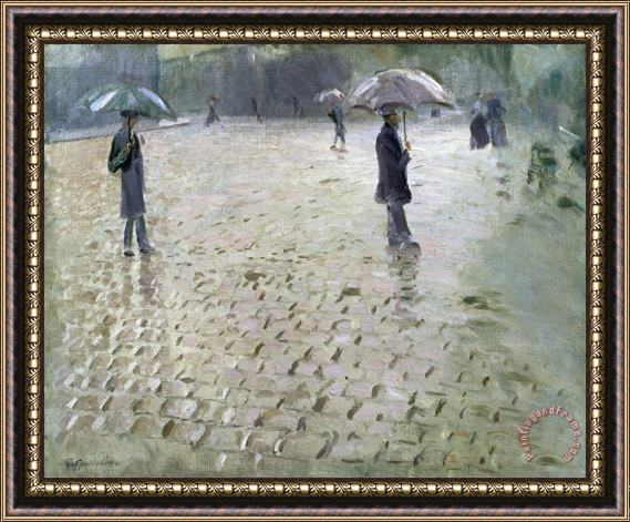 Gustave Caillebotte Study for a Paris Street Rainy Day Framed Print