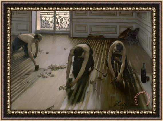 Gustave Caillebotte The Floor Planers Framed Print
