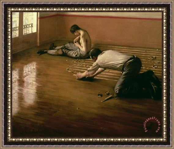 Gustave Caillebotte The Parquet Planers Framed Painting