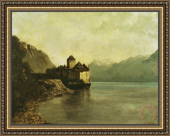 Gustave Courbet Chateau de Chillon Framed Print