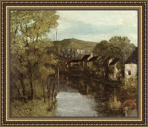 Gustave Courbet The Reflection of Ornans Framed Print