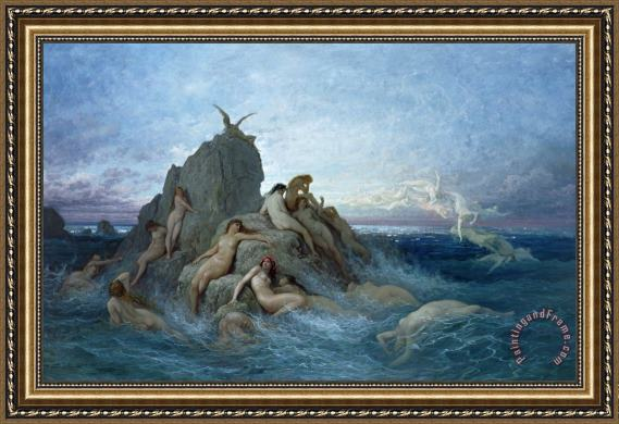 Gustave Dore Les Oceanides Framed Painting