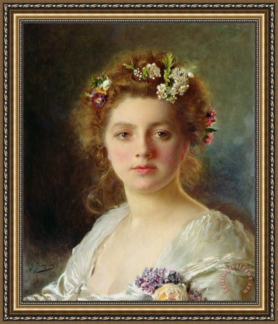 Gustave Jean Jacquet Flora Framed Painting