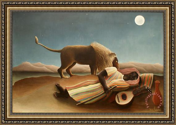 Henri Rousseau The Sleeping Gypsy II Framed Print