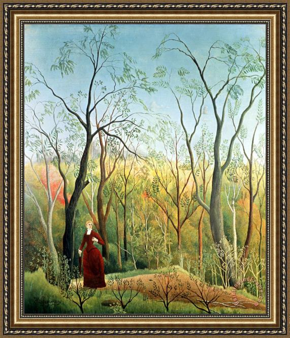 Henri Rousseau The Walk in the Forest Framed Painting