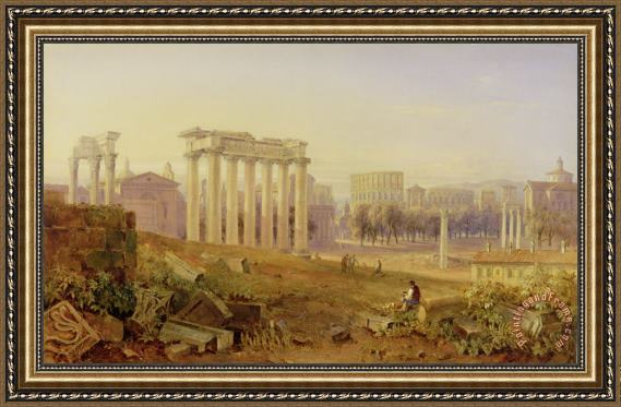 Hugh William Williams Across the Forum - Rome Framed Print