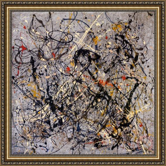 Jackson Pollock Number 18 1950 Framed Painting