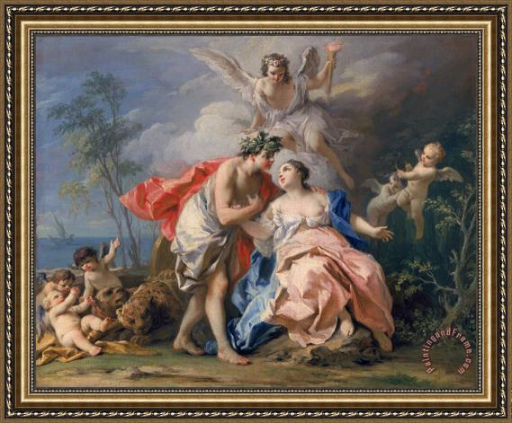 Jacopo Amigoni Bacchus and Ariadne Framed Painting