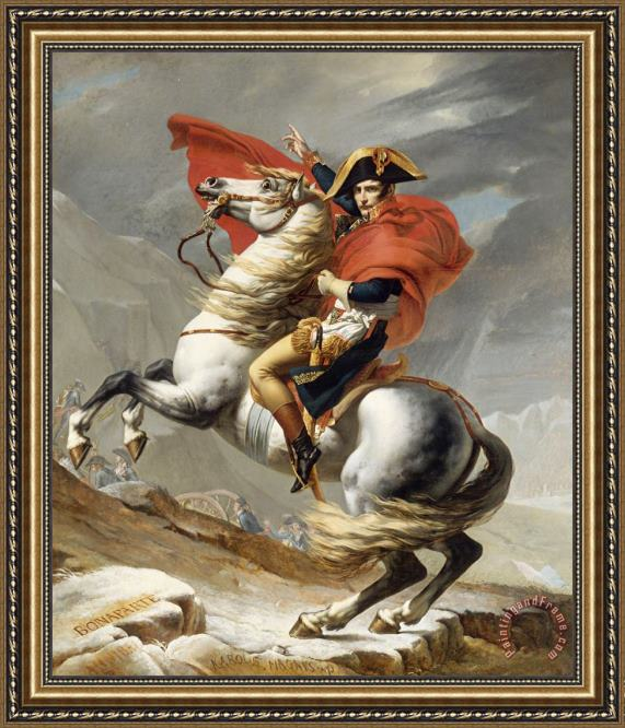 Jacques Louis David Bonaparte Crossing The Grand Saint-bernard Pass Framed Print
