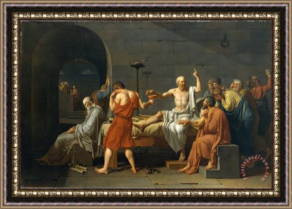 Jacques Louis David The Death of Socrates Framed Print