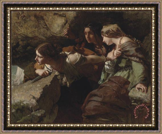 James Sant Courage Anxiety And Despair Watching The Battle Framed Print For Sale Paintingandframe Com
