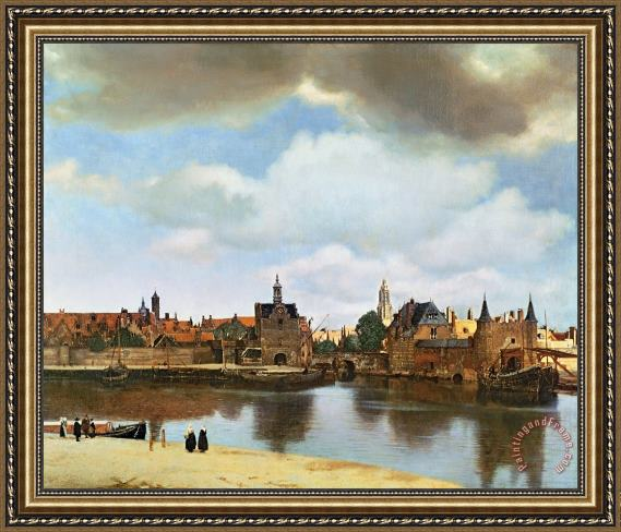 Jan Vermeer View of Delft Framed Print