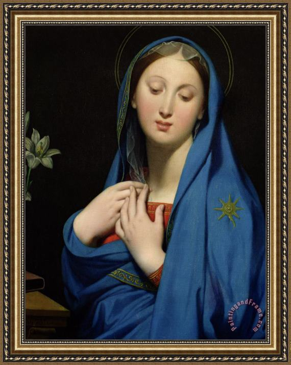 Jean Auguste Dominique Ingres Virgin Of The Adoption Framed Print