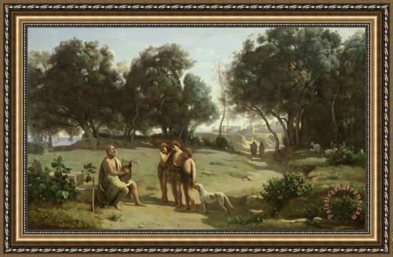Jean Baptiste Camille Corot Homer and the Shepherds in a Landscape ...