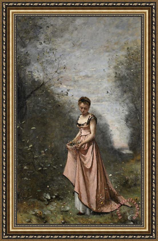 Jean Baptiste Camille Corot Springtime Of Life Framed Painting