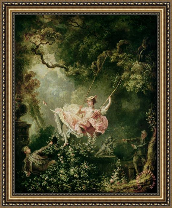 Jean Honore Fragonard The Swing Framed Print