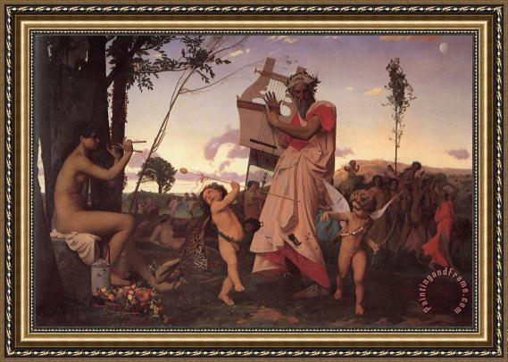 Jean Leon Gerome Bacchus And Cupid Framed Print
