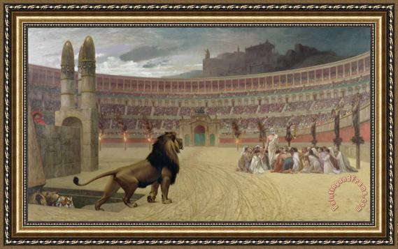 jean leon gerome the christian martyrs last prayer framed print