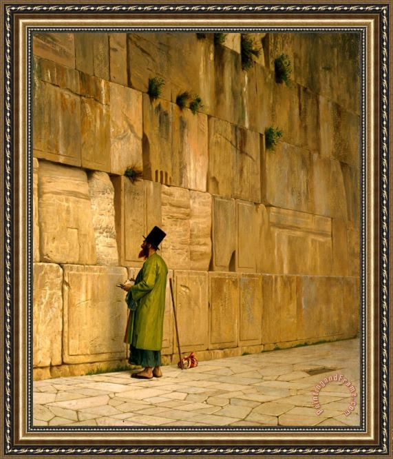 Jean Leon Gerome The Wailing Wall Framed Print