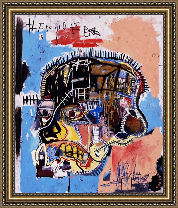 Jean-michel Basquiat Head Framed Print