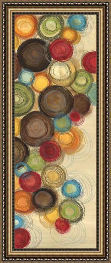 Jeni Lee Wednesday Whimsy II Abstract Colorful Circles Framed Print