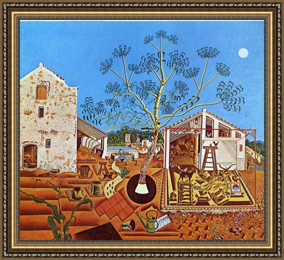 Joan Miro The Farm 1922 Framed Painting