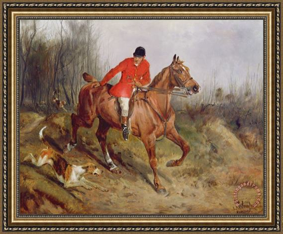 John Alfred Wheeler Hunting Scene Framed Painting for sale ...